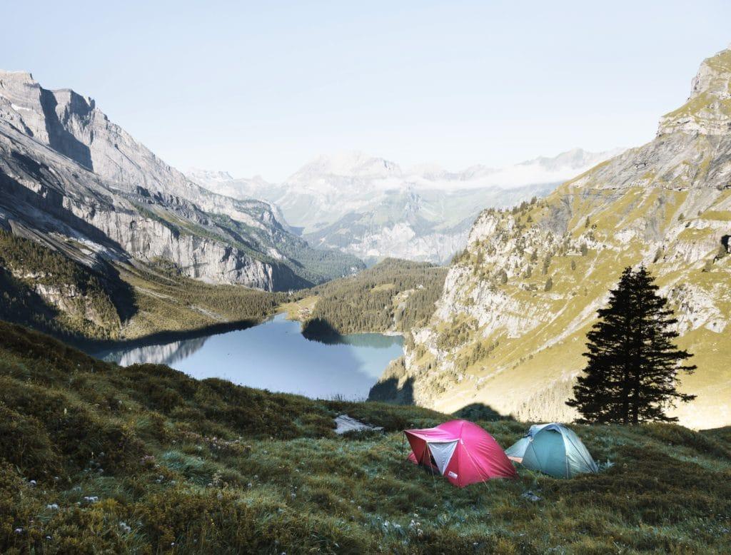dormir bikepacking camping en hiver